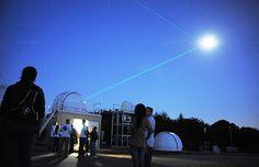 NASA Laser Ranging Facility firing two lasers at moon, Goddard Space Flight Center, Greenbelt, Md. (© Debbie Mccallum/GSFC/NASA/Rex Features...