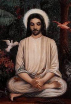 Jesus Yogi meditating.