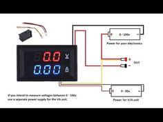 (35) DC 100V 10A Voltmeter Ammeter Blue + Red LED Amp Dual Digital Volt MeterA meter - YouTube