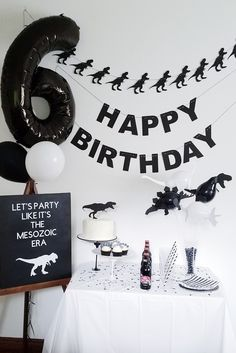 A collection of modern dinosaur party decorations from Rad Party Co. Godzilla Party, Godzilla Birthday Party, Dinosaur Birthday Party, Boy Birthday Parties, 3rd Birthday, Party Co, Elmo Party, Mickey Party, Party Hats