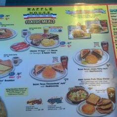 The Waffle House menu Southern Exposures Waffle house