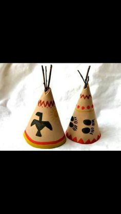 Make your own teepees learn about the indeans and piligrams