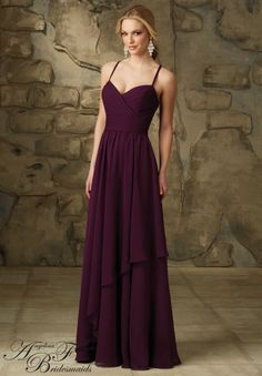 Bridesmaids Dress 20464 Luxe Chiffon Morilee. Would be nice with the tiers at the bottom if the brides dress had tiers.