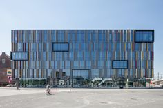 Image 16 of 16 from gallery of Post site Aalst / Abscis Architecten. Photograph by Abscis Architecten Office Building Architecture, Building Facade, Facade Architecture, Amazing Architecture, Office Buildings, Elevation Drawing, Shop Facade, Metal Facade, Urban Fabric