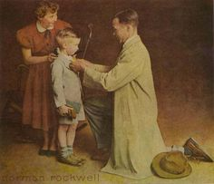 """""""First day of School"""". Norman Rockwell great to get this printed for her first day"""