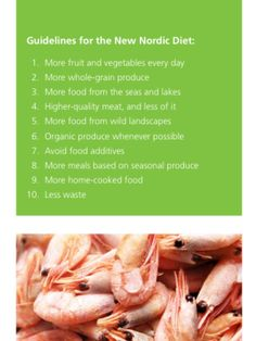 New Nordic Diet guidelines