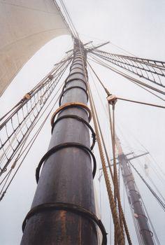 Ernestina's main mast