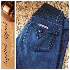 "Hudson Classic Pocket Flare Jeans 32.5"" inseam Excellent condition. Minimal wear. Super cute dark wash. Flare leg. Classic pocket. Approx 32.5"" inseam. Item Location GA Bin 3. Hudson Jeans Jeans Flare & Wide Leg"