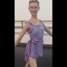 Cupid Costume -  www.AuditionDancewear.com  #dance #dancer #ballerina #pointe #beauty #beautiful #grace #graceful #love #ballet #Cupid #Valentine #violet #leotard #floralheadpiece #ribbons #YAGP