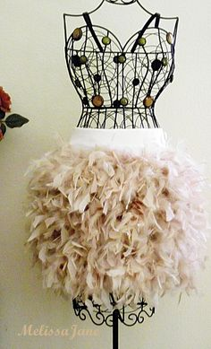 Adult/Teen Size Feathered Marabou Skirt