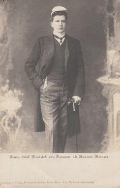 ca. 1900 - Prince Eitel Friedrich of Prussia as Student Corps Borussia Bonn (cap)