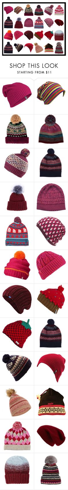 """""""More Beanies #12"""" by franceseattle ❤ liked on Polyvore featuring Icebreaker, San Diego Hat Co., prAna, Brora, Eugenia Kim, Versace, The North Face, Mountain Hardwear, Burton and Keds"""