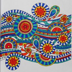 Another beautifully colored design from the Adult Coloring Book; $8.99 http://www.amazon.com/Adult-Coloring-Book-Creativity-Relieving/dp/1518796397