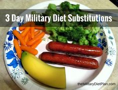 Don't like one of the foods on the list? Try one of the 3 day military diet substitutions for 3 day diet.