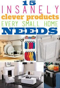 If your home or apartment's square footage is limiting, there are ways you can maximize your space and keep it clean and organized to maintain your sanity. Below are 15 insanely clever solutions every...