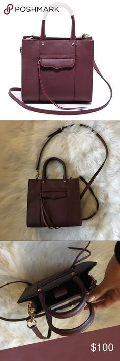 Rebecca Minkoff Mini MAB Black Cherry Like new Rebecca Minkoff Mini MAB bag in beautiful black cherry. No stains on interior/exterior. Gently used and in excellent condition. Rebecca Minkoff Bags Mini Bags