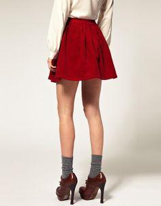 ASOS Mini Skirt in Cord