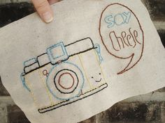 Say Cheese - Camera PDF Mini Embroidery Pattern. $2.00, via Etsy. Love it love it love it.