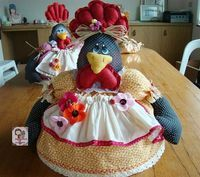 10 modelos de artesanatos com galinhas