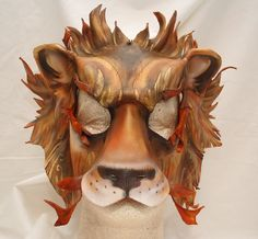 Lannister Lion Game of Thrones Inspired Leather Mask by PlatyMorph Leather Dye, Leather Mask, Narnia Costumes, Lion Games, Lion Mask, Iron Throne, Hand Shapes, Vegetable Tanned Leather, Lion Sculpture