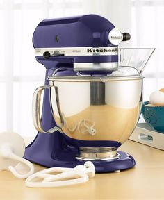 KitchenAid mixer in Cobalt Blue. It's taking everything in me to not buy this mixer right now. It's on sale for $299.99, I have a 25% off coupon that expires today AND it qualifies for a 30 dollar rebate. ugh!