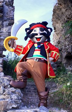 Captain Popcorn - Turkey #mascot #costume #character #turkey