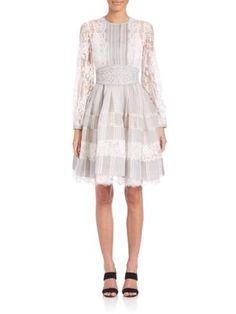 ZIMMERMANN Havoc Ticking Lace Dress. #zimmermann #cloth #dress