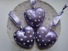 GreenGate Christmas Heart Spot Purple