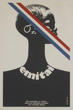 1973 Cuban poster for EMITAI (Ousmane Sembene, Senegal, 1971) Designer: Dimas