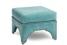 """Candemir Ottoman, Turquoise 24""""W x 24""""D x 19""""H  899 - orig. 1740"""