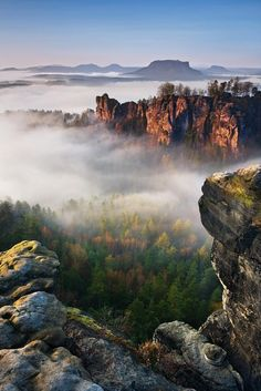 The Bastei: Saxon, Switzerland by Daniel Řeřicha