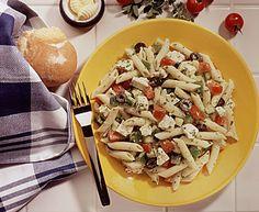 Greek pasta salad with feta recipes - Food fast recipes Tortellini, Entree Recipes, Cooking Recipes, Yummy Recipes, Mediterranean Pasta Salads, Yogurt, Feta, Healthy Living Recipes, Healthy Food