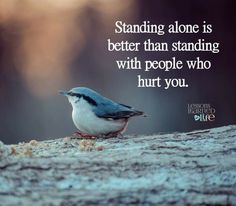 Standing alone is better than standing with people who hurt you. Life Quotes Pictures, Picture Quotes, Lessons Learned In Life, Life Lessons, Stand Alone Quotes, Motivational Quotes For Life, Inspirational Quotes, People Hurt You Quotes, Love My Husband Quotes