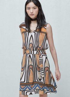 Flowy printed dress | MANGO