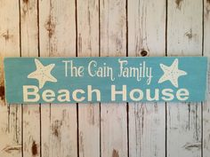 Personalized Beach House Wooden Sign Beach by personallysigned