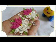 İğne Oyası Kalpli Çiçek Modeli Anlatımlı Yapılışı - YouTube