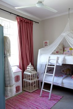 E wants a canopy and bunk beds...maybe something like this?
