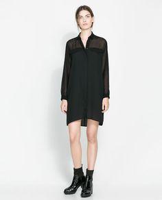 SHIRT DRESS from Zara $60