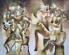 Musical Orgy is a painting by Hiremio SANTA OLAYA Garcia