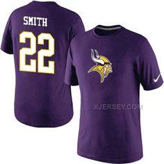 http://www.xjersey.com/nike-vikings-22-smith-purple-fashion-t-shirt.html Only$27.00 #NIKE VI#KINGS 22 SMITH PURPLE FASHION T SHIRT Free Shipping!