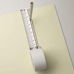 Any Kinda Tape. Il designer sud-coreano Sunghoon Jung ha realizzato Any Kinda Tape, un metro che permette di inserire una matita per tracciare facilmente un cerchio o una linea retta. Via dezeen.com