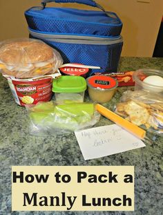 foods for a man lunch box