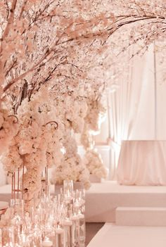 Glamorous wedding ceremony idea; Event Design: White Lilac Inc.