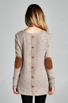 Elbow Patch Sweater in Mocha