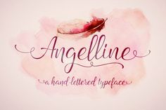 Angelline Script is handwritten stylish copperplate calligraphy fonts, combines from copperplate to contemporary typeface with a dancing baseline, classic and elegant touch. This font is 100% based on the brush traces, it has 348 glyphs, contextual, ligatures, swsh and alternates in any OpenType Savvy program or manually choose from even more alternate characters from Glyph Palette.