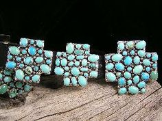 Navajo Turquoise Cluster Cross Concho Belt for $2,450.00 | Native American Jewelry