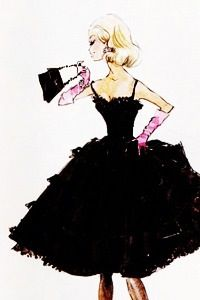 Barbie silkstone design sketches by Robert Best