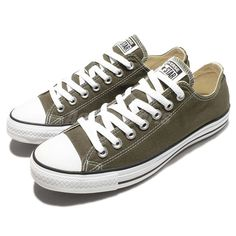 dfe9d967f1c553 Converse Chuck Taylor All Star Army Green Low Cut Canvas Mens Casual 151184C