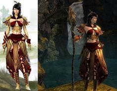 Guild Wars 2 dye combo/armor site Guild Wars 2, Total War, Fantasy Art, Wonder Woman, Cosplay, Superhero, Physiology, Female, Badass