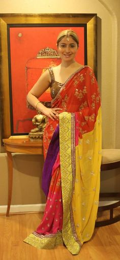 Beautiful #Saree by Anamika Khanna https://www.facebook.com/thegrandtrunk via taraanacouture@gmail.com